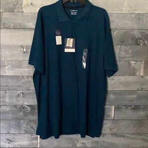 Croft & Barrow Dark Teal Men's easy care polo
